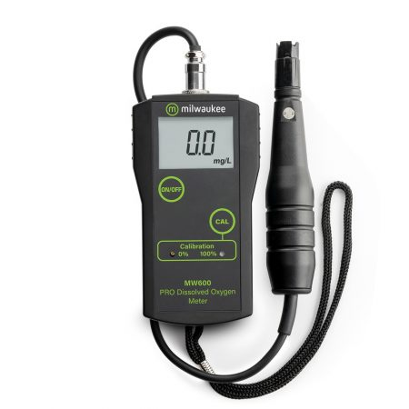 Milwaukee Instruments standard Portable Dissolved Oxygen Meter with replaceable probe.